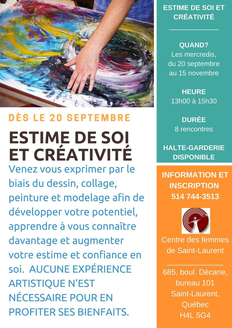 Atelier -Estime de soi et créativité-