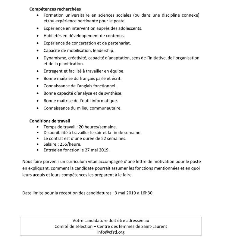 Offre d'emploi-Chargée de projet-1